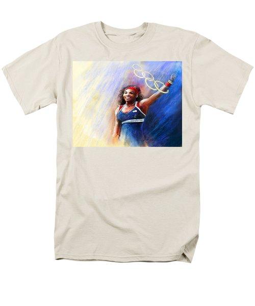 2012 Tennis Olympics Gold Medal Serena Williams Men's T-Shirt  (Regular Fit) by Miki De Goodaboom