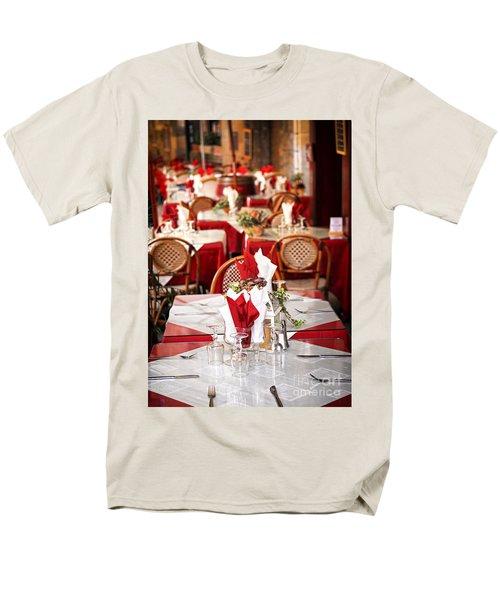Restaurant patio in France T-Shirt by Elena Elisseeva