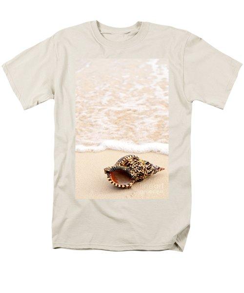 Seashell and ocean wave T-Shirt by Elena Elisseeva