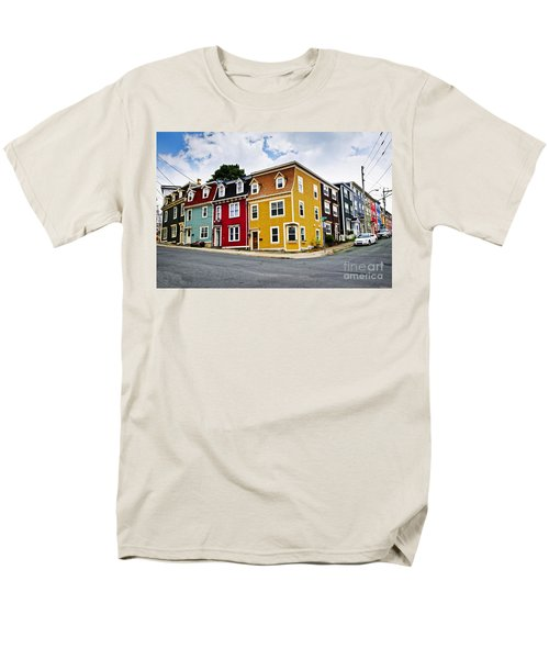Colorful houses in St. John's Newfoundland T-Shirt by Elena Elisseeva