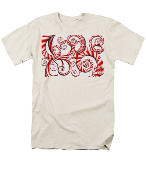 Abstract - Spirals - Peppermint Dreams T-Shirt by Mike Savad