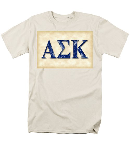 Alpha Sigma Kappa - Parchment Men's T-Shirt  (Regular Fit) by Stephen Younts