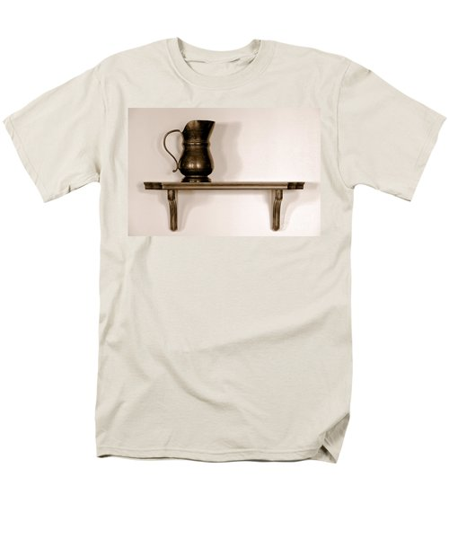 Antique Pewter Pitcher on Old Wood Shelf T-Shirt by Olivier Le Queinec