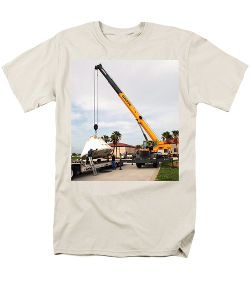 Men's T-Shirt  (Regular Fit) featuring the photograph Apollo Capsule Going In For Repairs by Science Source