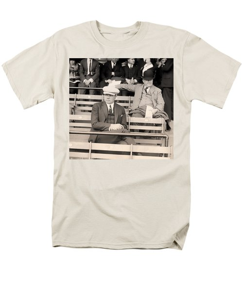 Babe Ruth In The Stands At Griffith Stadium 1922 Men's T-Shirt  (Regular Fit) by Mountain Dreams