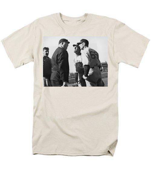 Baseball Umpire Dispute Men's T-Shirt  (Regular Fit) by Underwood Archives