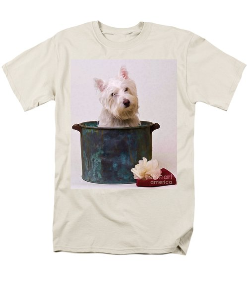 Bath Time Westie T-Shirt by Edward Fielding