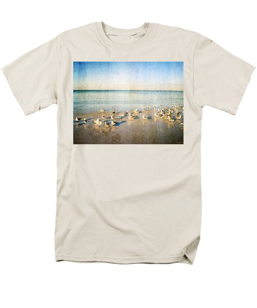 Beach Combers - Seagull Art by Sharon Cummings T-Shirt by Sharon Cummings
