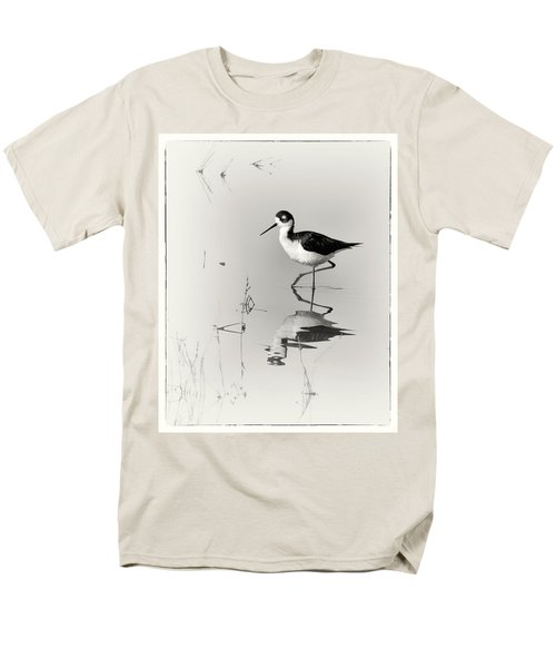 Black-necked Stilt at Carson Lake Wetlands T-Shirt by Priscilla Burgers