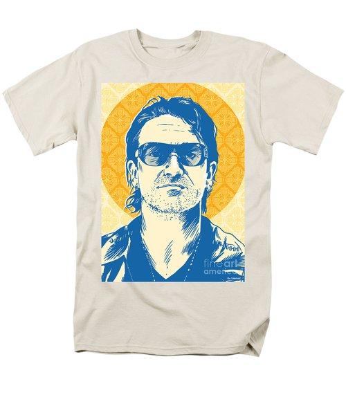 Bono Pop Art Men's T-Shirt  (Regular Fit) by Jim Zahniser