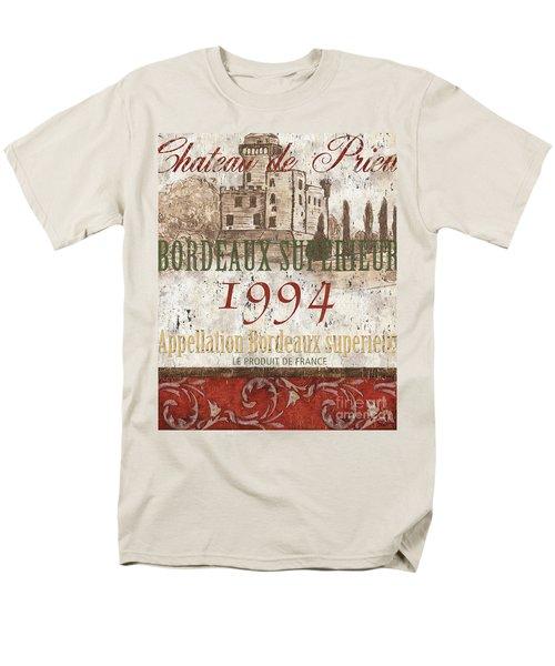 Bordeaux Blanc Label 2 T-Shirt by Debbie DeWitt