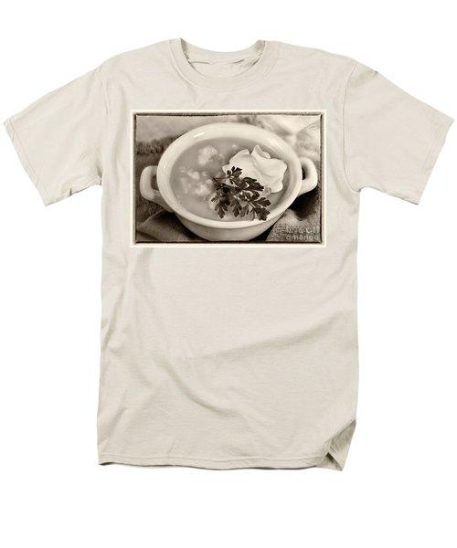 Cauliflower Soup Sepia Tone Men's T-Shirt  (Regular Fit) by Iris Richardson