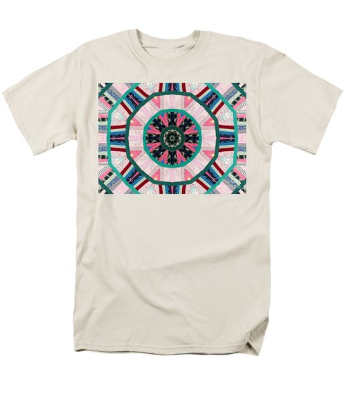 Circular Patchwork Art T-Shirt by Barbara Griffin