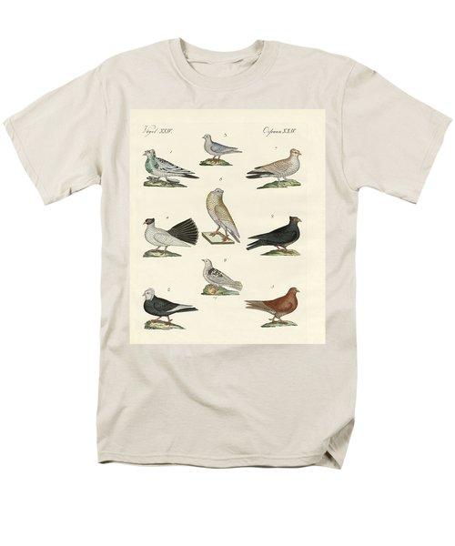 Different kinds of pigeons T-Shirt by Splendid Art Prints