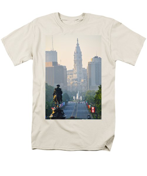 Downtown Philadelphia - Benjamin Franklin Parkway T-Shirt by Bill Cannon