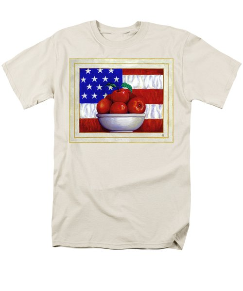 Flag and Apples T-Shirt by Linda Mears