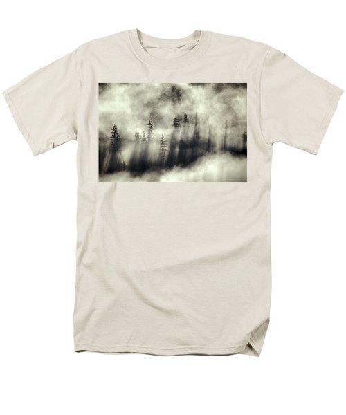 Foggy Landscape Stephens Passage T-Shirt by Ron Sanford