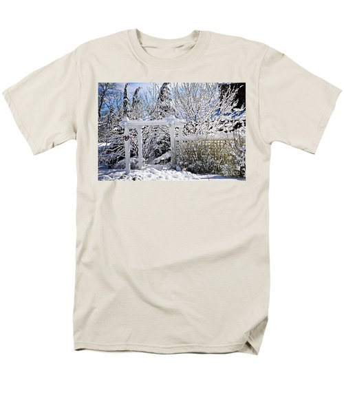 Front yard of a house in winter T-Shirt by Elena Elisseeva