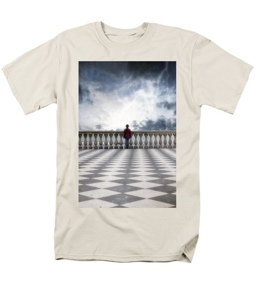 girl on a terrace T-Shirt by Joana Kruse