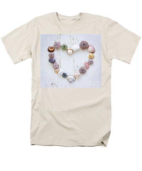Heart of seashells and rocks T-Shirt by Elena Elisseeva