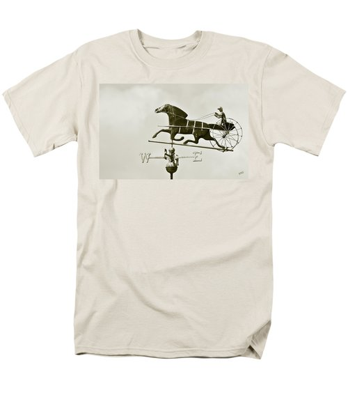 Horse And Buggy Weathervane In Sepia T-Shirt by Ben and Raisa Gertsberg