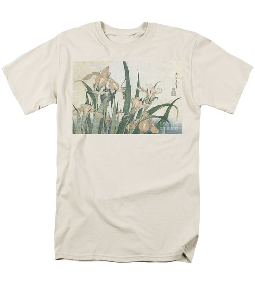 Iris Flowers And Grasshopper Men's T-Shirt  (Regular Fit) by Hokusai