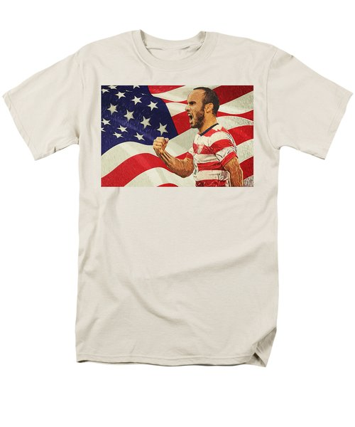 Landon Donovan Men's T-Shirt  (Regular Fit) by Taylan Apukovska