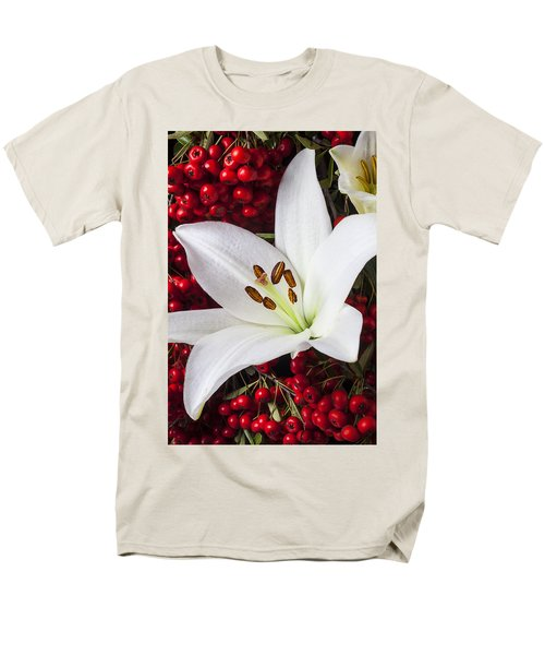 lily and Pyracantha T-Shirt by Garry Gay