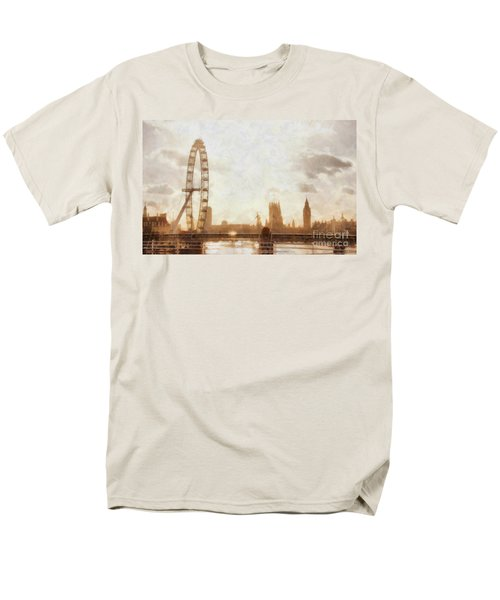 London Skyline At Dusk 01 Men's T-Shirt  (Regular Fit) by Pixel  Chimp