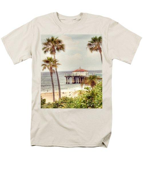 Manhattan Beach Pier T-Shirt by Juli Scalzi