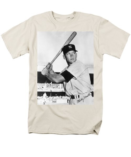 Mickey Mantle At-bat Men's T-Shirt  (Regular Fit) by Gianfranco Weiss