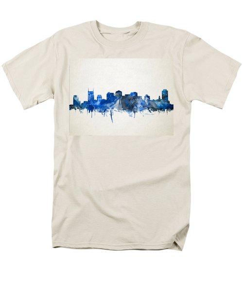 Nashville Skyline Watercolor 11 Men's T-Shirt  (Regular Fit) by Bekim Art