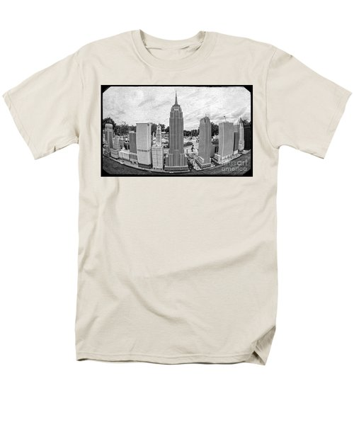 New York City Skyline - Lego T-Shirt by Edward Fielding