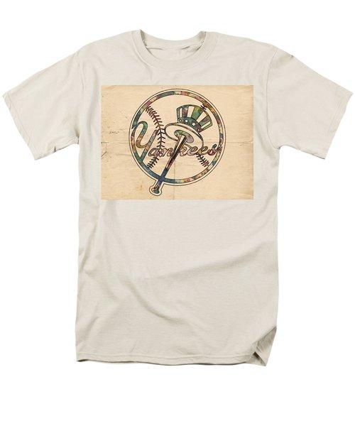 New York Yankees Poster Vintage Men's T-Shirt  (Regular Fit) by Florian Rodarte