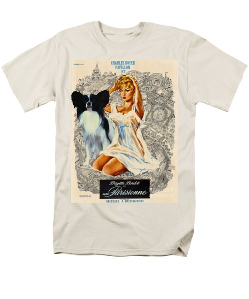 Papillon Art - Una Parisienne Movie Poster T-Shirt by Sandra Sij