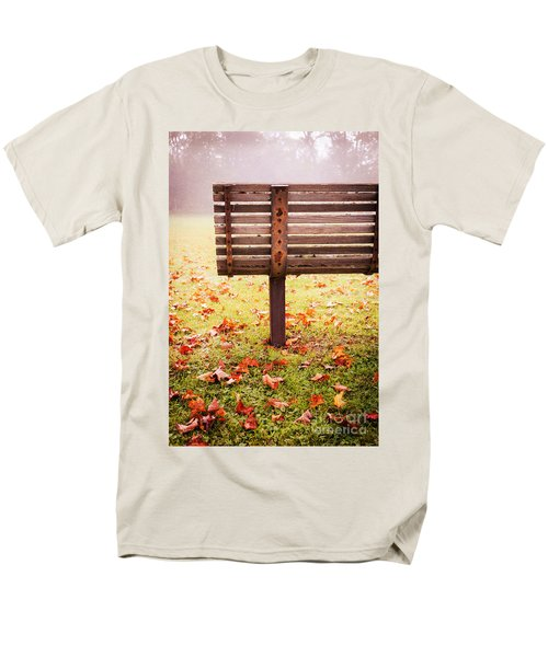 Park Bench in Autumn T-Shirt by Edward Fielding