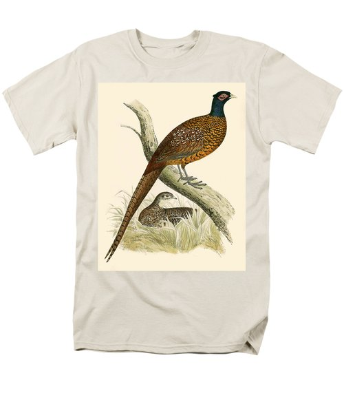 Pheasant Men's T-Shirt  (Regular Fit) by Beverley R Morris