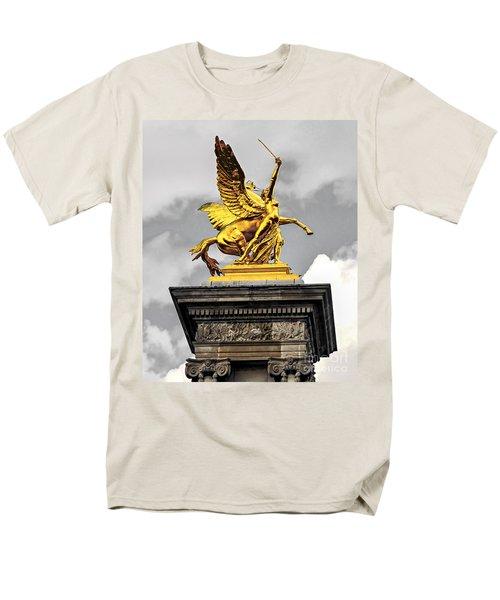 Pont Alexander III fragment in Paris T-Shirt by Elena Elisseeva