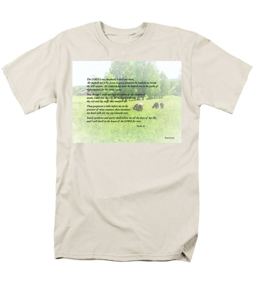 Psalm 23 The Lord Is My Shepherd T-Shirt by Susan Savad
