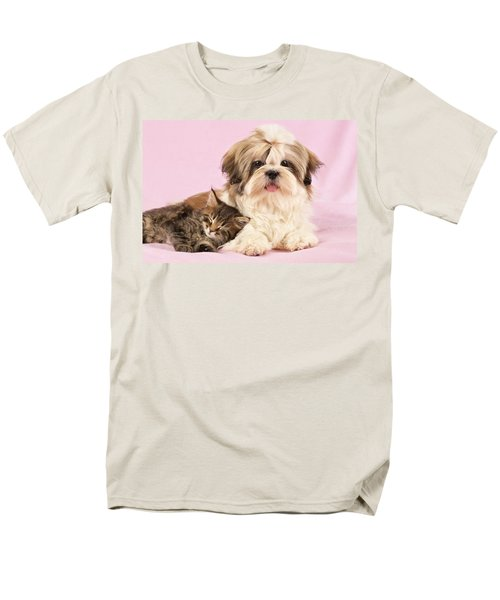 Puppy And Kitten T-Shirt by Greg Cuddiford