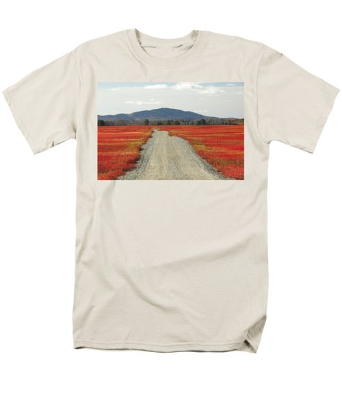 Road Through Autumn Blueberry Maine T-Shirt by Scott Leslie