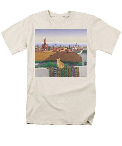Rooftops In Marrakesh Men's T-Shirt  (Regular Fit) by Larry Smart
