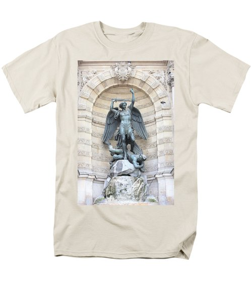 Saint Michael the Archangel in Paris T-Shirt by Carol Groenen
