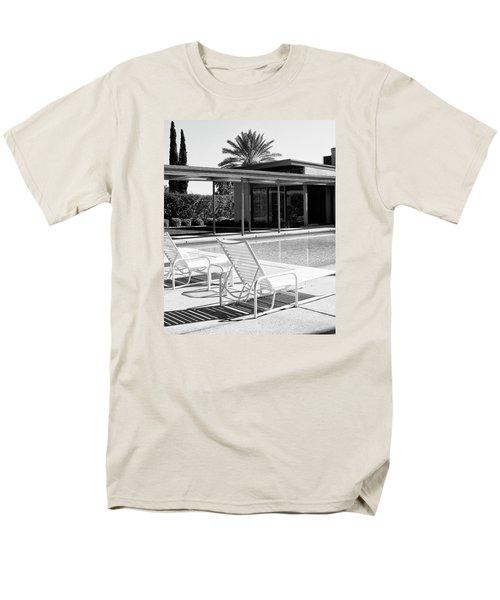 Sinatra Pool Bw Palm Springs Men's T-Shirt  (Regular Fit) by William Dey