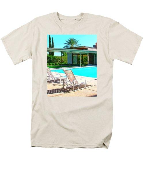 Sinatra Pool Palm Springs Men's T-Shirt  (Regular Fit) by William Dey