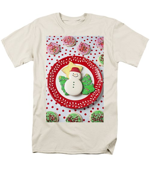 Snowman cookie plate T-Shirt by Garry Gay