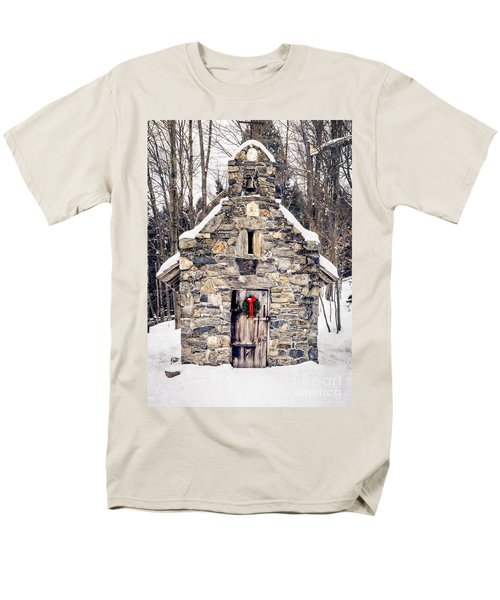 Stone Chapel in the Woods Trapp Family Lodge Stowe Vermont T-Shirt by Edward Fielding