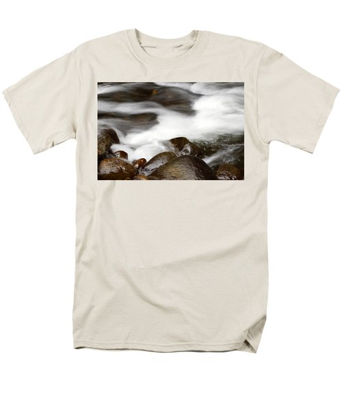 Stream flowing  T-Shirt by Les Cunliffe