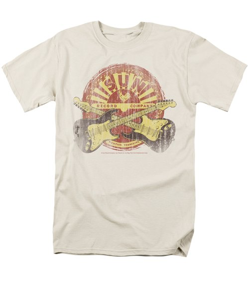 Sun - Crossed Guitars Men's T-Shirt  (Regular Fit) by Brand A