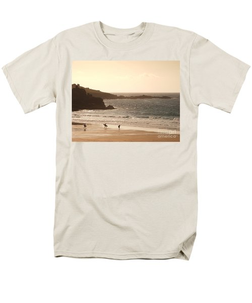 Surfers on beach 03 T-Shirt by Pixel Chimp
